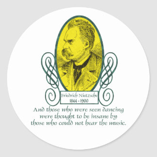 Friedrich Nietzsche Runt Klistermärke