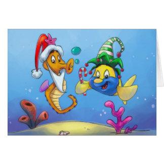 FriendFish jul Hälsningskort