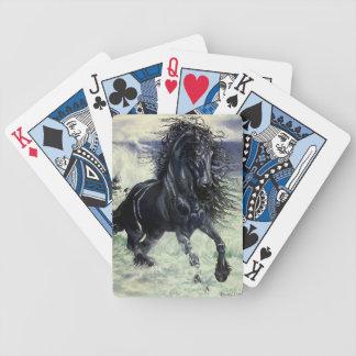 Friesianstorm, den svart skönhethingsten i hav spel kort