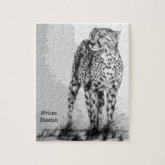 Frigör den afrikanska cheetahen för vilden, för pussel