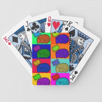 Frigör konst Popart för popet för kramigelkotten f Spelkort