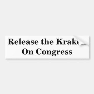 Frigör Krakenen på kongress Bildekal