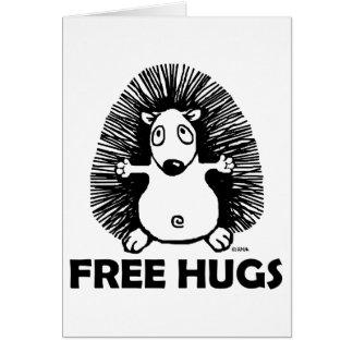 Frigör kramar hälsningskort