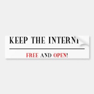 Frigör och öppna internet bildekal