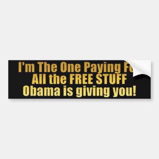 FRIGÖR SAKER! - Anti Obama Bildekal