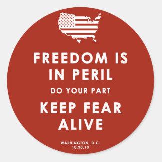 Frihet är i risk! Klistermärke