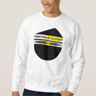 Frihet är slaveri långärmad tröja