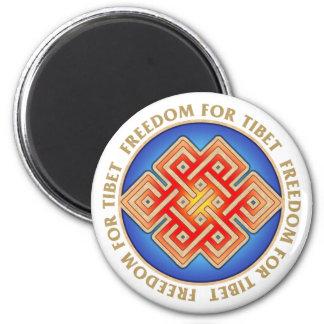 Frihet för Tibet ändlöst fnurramönster Magnet