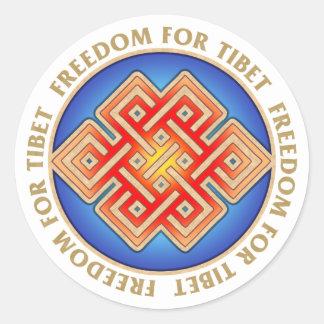 Frihet för Tibet ändlöst fnurramönster Runt Klistermärke