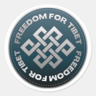 Frihet för Tibet syr Runt Klistermärke