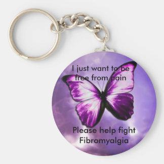 Frihet från smärtar rund nyckelring