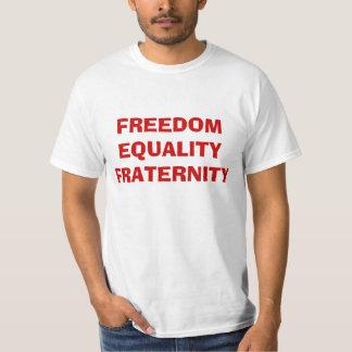 Frihet jämställdhet, broderskap t shirt