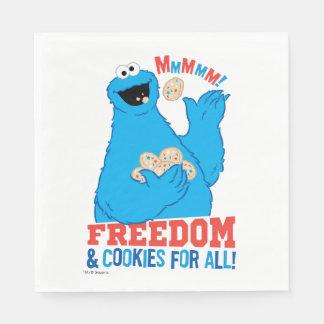 Frihet & kakor för alla! papper servetter