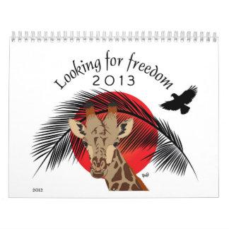Frihet och djurkalender kalender