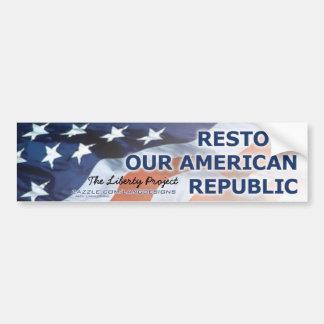 FrihetProjektera-Återställandet vår amerikanrepubl Bildekal