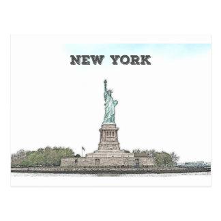 Frihetsgudinnan - New York Vykort