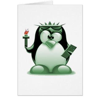 FrihetTux (Linuxtuxen) Hälsningskort