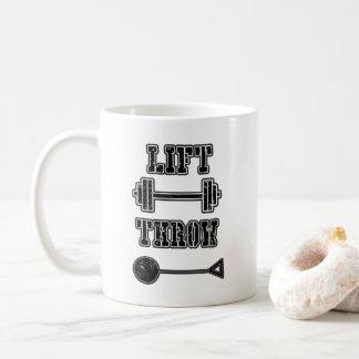 Friidrott bultar gåvan för kastkaffemuggen kaffemugg
