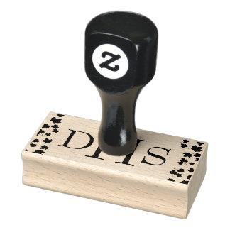 Frimärke för lönnlöv för Monograminitialer Stämpel