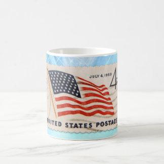 Frimärke för porto för independence kaffemugg