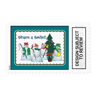 snowmen 15d stamp