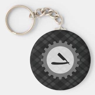 frisersalongen utrustar rund nyckelring