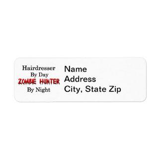 Frisör-/Zombiejägare Returadress Etikett
