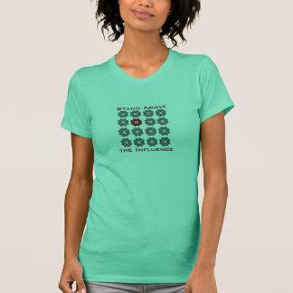 fristående stativ över, påverkan tee shirts
