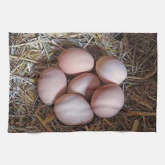Fritt spänna fega ägg kökshandduk