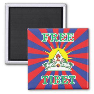 Fritt symbol för för Tibet snölejon och sol Magnet
