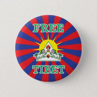 Fritt symbol för för Tibet snölejon och sol Standard Knapp Rund 5.7 Cm