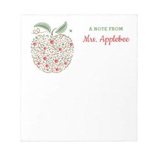 Frö av kunskapslärare den Apple anteckningsboken Anteckningsblock
