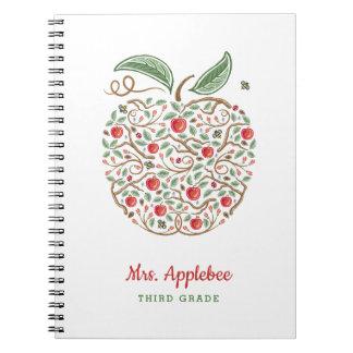 Frö av kunskapslärare den Apple anteckningsboken Anteckningsbok Med Spiral