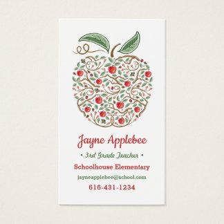 Frö av kunskapslärare den Apple visitkorten Visitkort