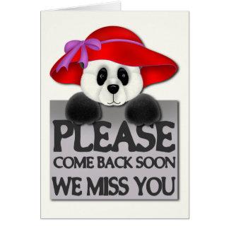 Fröcken dig Panda Hälsningskort