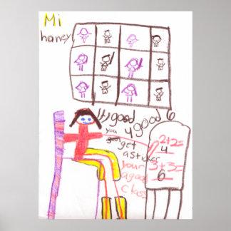 Fröcken honungundervisning henne klassificerar Mat Posters
