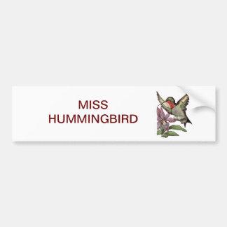 FRÖCKEN HUMMINGBIRD - Personified fågel Bildekal