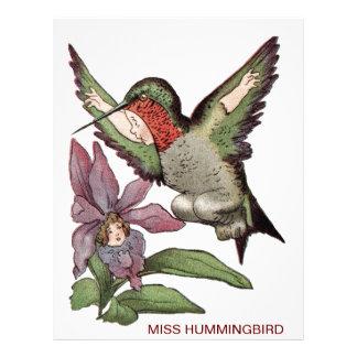 FRÖCKEN HUMMINGBIRD - Personified fågel Brevhuvud