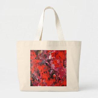 Frodig modern röd abstrakt blommafältmålning kassar