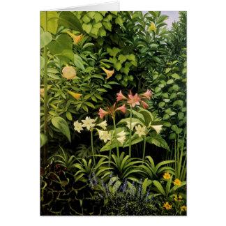 Frodig trädgård hälsningskort