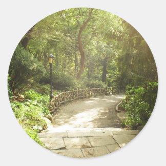 Frodiga Central Park landskap, New York City Runt Klistermärke