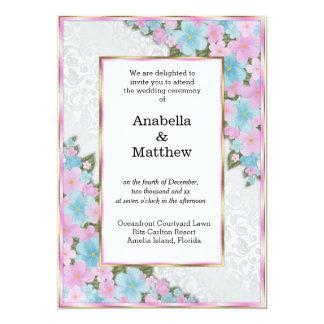 Frodigt blom- bröllop 12,7 x 17,8 cm inbjudningskort