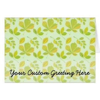 Frodigt gröntlövmönster hälsningskort