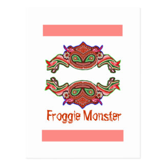 Froggie monster - grodatecknad vykort
