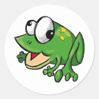 Froggy Toon Runt Klistermärke