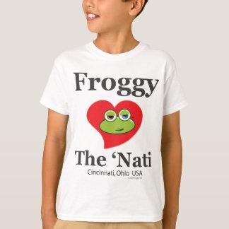 Froggyen älskar 'den Nati (Cincinnati) ungeT-tröja Tee