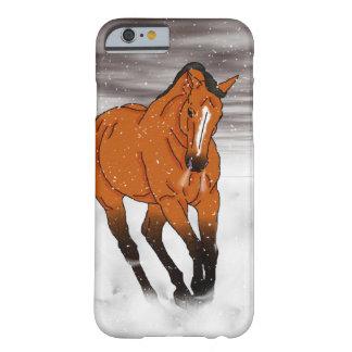 Frolicking hjortläderhäst i snö barely there iPhone 6 skal