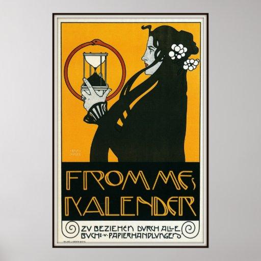 Frommes Kalender av Koloman Moser, 1899 Posters