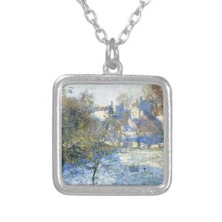 Frost vid Claude Monet Silverpläterat Halsband