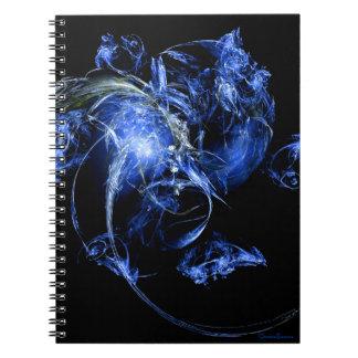 Frostad blommaFractalanteckningsbok Anteckningsbok Med Spiral